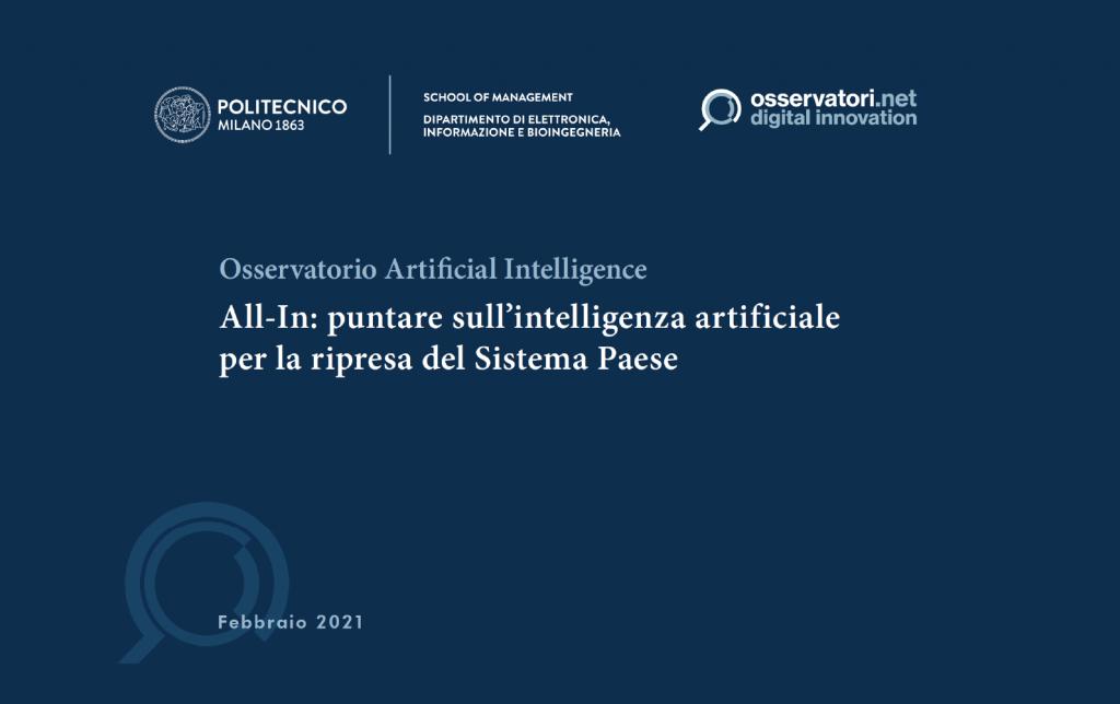 Osservatorio Artificial intelligence 2020-2021: gestione e monitoraggio dell'intelligenza artificiale