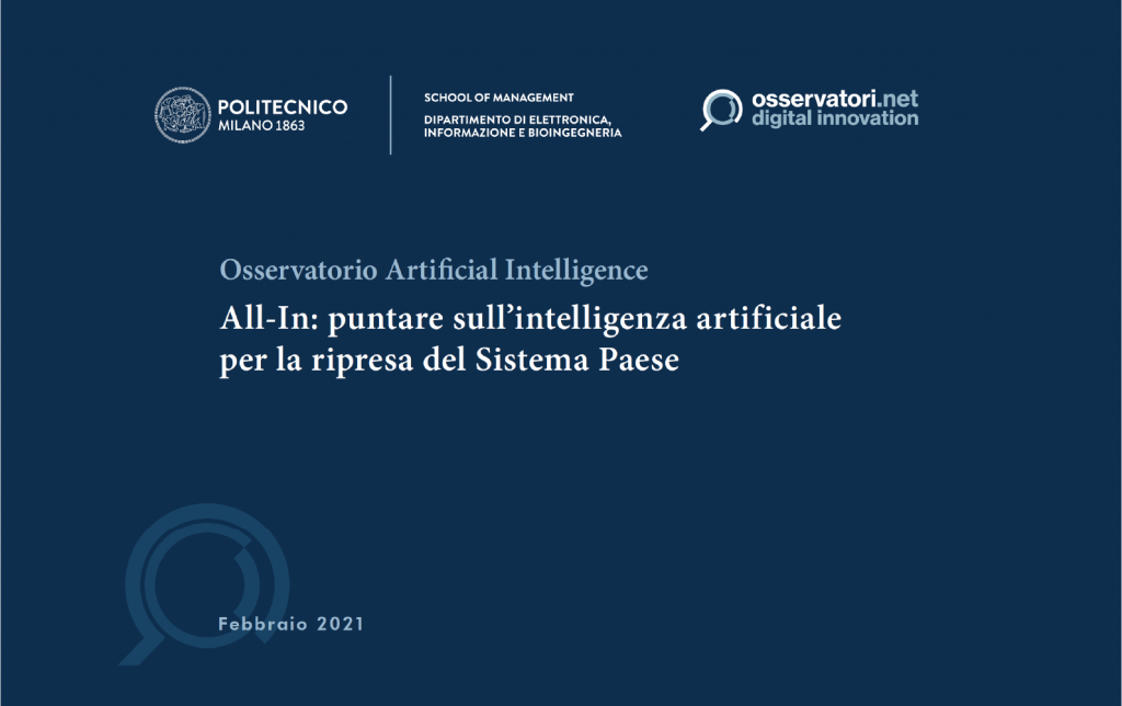 Osservatorio Artificial intelligence 2020-2021 Orobix We Make AI happen
