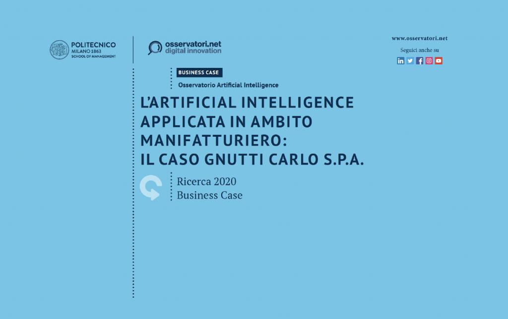 Intelligenza Artificiale in settore Manifatturiero